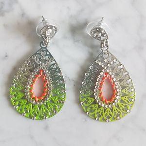 🌼 NWOT sparkley woven earrings